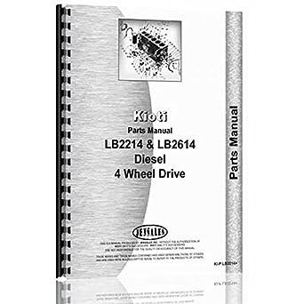 51R%2BLl3ft0L._SX342_ amazon com new kioti tractor parts manual (ki p lb2214 )