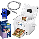 Epson PM225 PictureMate Charm Compact Photo Inkjet Printer + Epson T5846 Picturemate 200-series Print Pack (includes ink & paper) Glossy 4 x 6 150 sheets + USB Printer Cable + HeroFiber Ultra Gentle Cleaning Cloth