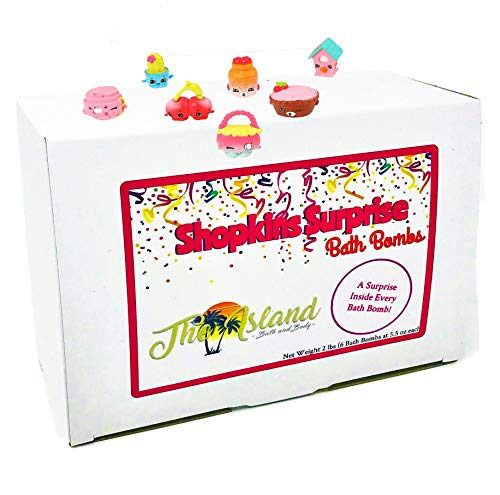 6 XL Bath Bombs Gift Set w/Surprise in fun assorted scents and colors-The Island Bath & Body-Made In USA- Shea & Cocoa Butter
