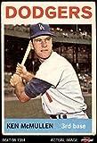 1964 Topps # 214 Ken McMullen Los Angeles Dodgers (Baseball Card) Dean's Cards 1.5 - FAIR Dodgers