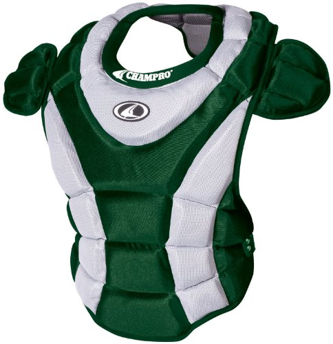 (Champro Women's Chest Protector (Forest Green, 16-Inch length))
