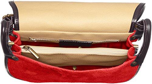 pour à epaule cuir Italie CTM Cm fait en petit veritable Rouge Rosso en sac femme 26x23x8 Pochette HXw55RCq