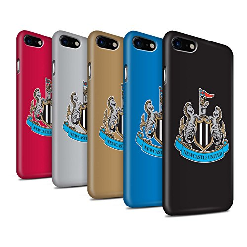 Offiziell Newcastle United FC Hülle / Matte Snap-On Case für Apple iPhone 8 / Pack 12pcs Muster / NUFC Fußball Crest Kollektion