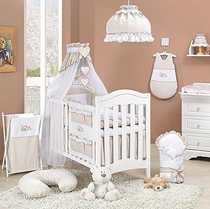 super promotions dernière mode la réputation d'abord Parure de lit 14 pièces marron et blanc bébé linge de lit gigoteuse nid  d'ange tour de lit 60x120cm