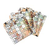 Roostery Tiles Linen Cotton Dinner Napkins Painted Tiles 1 by Animotaxis Set of 4 Cotton Dinner Napkins Made