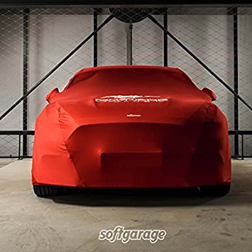Softgarage Rot Slim Fit Indoor Atmungsaktiv Car Cover Red Breathable Special Edition With Logo Print Auto
