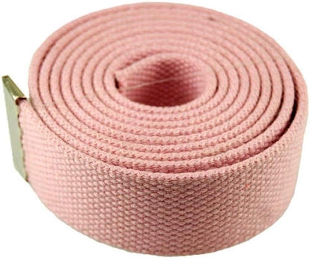 L-PINK #MNAS Top Quality 54 Canvas Web Belt Military Gold Metal Buckle /& Belt