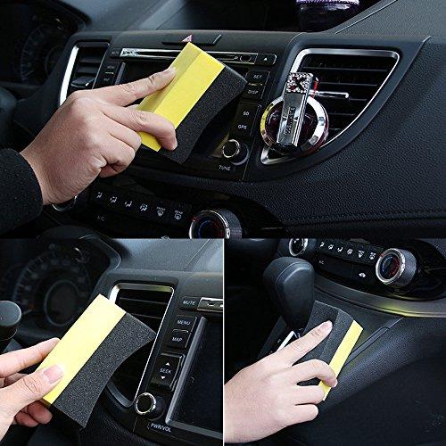 4PCS/set Car Cleaning Sponge UShape Car Tire Waxing Polishing Compound Washing Pad Brush ()