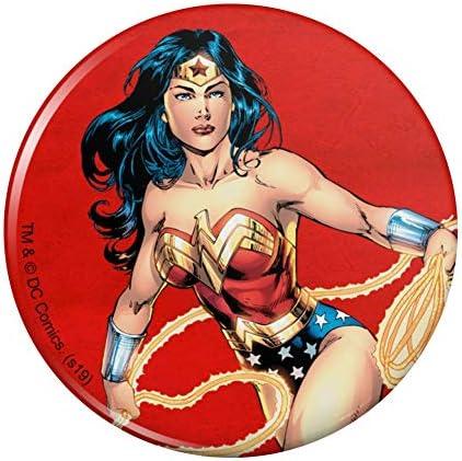 Wonder Woman Cute Chibi Character Pinback Button Pin Badge 1 Diameter