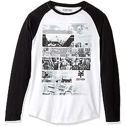 Zoo York Men's Long Sleeve Raglan Shirt, Distortion White, Medium