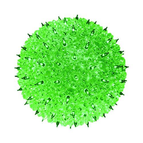 Indoor/Outdoor Hanging 50 Mini StarLight Sphere, Green by GKI/Bethlehem Lighting