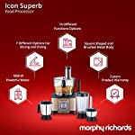 Morphy Richards Icon Superb 1000-Watt Food Processor (Glazing Copper and Black)