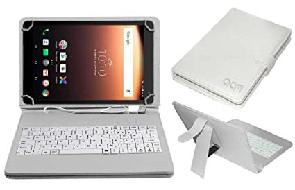watch 7f637 cad28 Acm USB Keyboard Case for Alcatel A3 10 Tablet Cover Stand with Free Micro  USB OTG - White