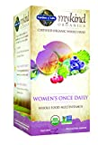 Garden of Life Organic Multivitamin Supplement for Women - mykind Women's Once Daily Whole Food Vitamin, Vegan, 60 Tablets