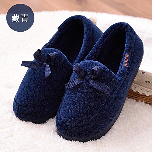 primavera de otoño indoor paquete zapatillas base Zapatillas Azul post DogHaccd antideslizante zapatos suaves de maternal con fina algodón y natal suministros de días oscuro2 verano Estancia 1F8XH80q