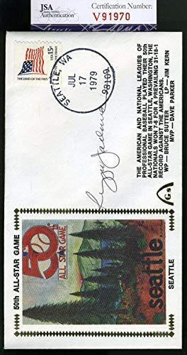 REGGIE JACKSON JSA Coa Autographed 1979 FDC Hand Signed Authentic