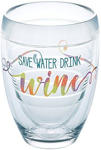 Ounce Water 9 Tumbler - Tervis 1233577 Save Water Drink Wine Tumbler, 9 oz, Clear