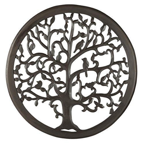 "12"" Dark Brown Solaris Ten Tree of Life Wall Art with"