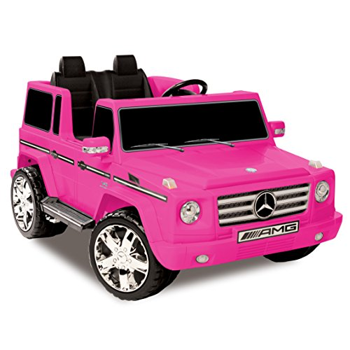 Kid Motorz Mercedes Benz G55 AMG 12 V Electric Ride On Two Seater In Pink with Sound, Lights, Battery Power Indicator & Rear Suspension Battery Powered Riding Toy Ride - Merced Ca In Stores