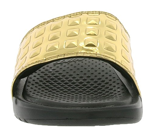 Nike Wmns Benassi Jdi Ultra Prem, Chanclas para Mujer Negro (Black / Black (Gold))