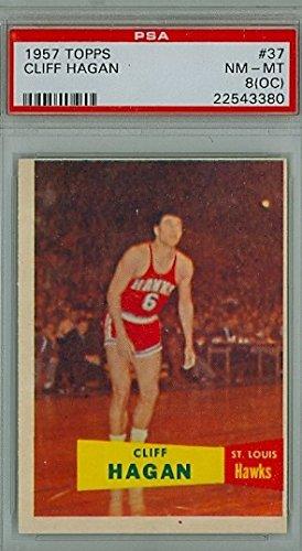 1957 Topps Basketball 37 Cliff Hagan PSA 8 Off-Center