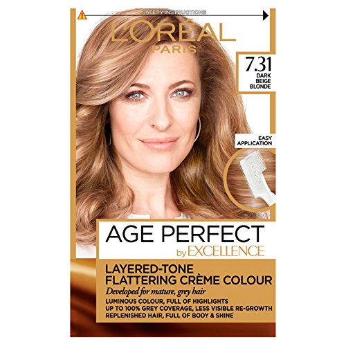 L'Oreal Excellence Age Perfect 7.31 Dark Caramel Blonde Hair Dye