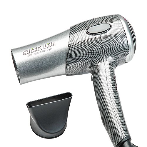 EMFreedom Hair Dryer 1800W with Ceramic Far Infrared Heat and Negative Ions by Shield Life