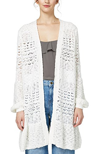 edc by Esprit, Gilet Femme Multicolore (Off White 110)