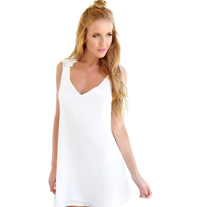57fb658de638 Scollo all americana vestito da partito estate di sera delle donne bianche  Backless Abiti per