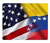 BleuReign(TM) Mixed USA and Venezuela Flag Square Refrigerator...
