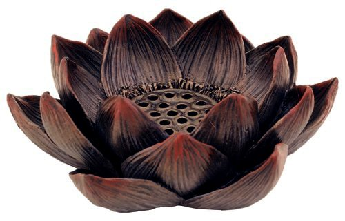 Lotus Incense Burner and Votive T-light Candle Holder Meditation Flower Buddha (1, 4 IN)