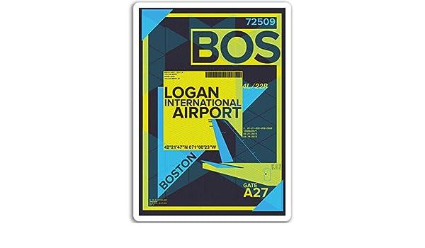 2 x 10cm Los Angeles Airport Vinyl Stickers USA Sticker Laptop Luggage #17158