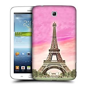 AIYAYA Samsung Case Designs Eiffel Tower Paris France Full Best of Places Protective Snap-on Hard Back Case Cover for Samsung Galaxy Tab 3 7.0 P3200 T210 WiFi