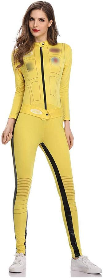 ZZUU Womens Disfraz De Kill Bill Amarillo,con Traje Entero,Yellow ...