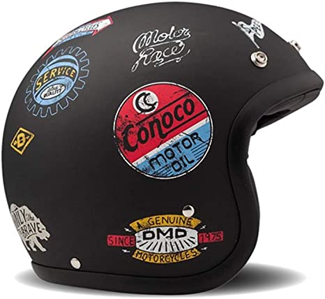 Unisex M Multicolore DMD Casco Moto