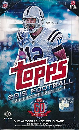2015 Topps NFL Football MASSIVE Factory Sealed 36 Pack HOBBY Box with 360 Cards and AUTOGRAPH or MEMORABILIA RELIC!  Includes Topps 60th Anniversary BuyBack Card & 36 ROOKIES with 40 Cool INSERTS !