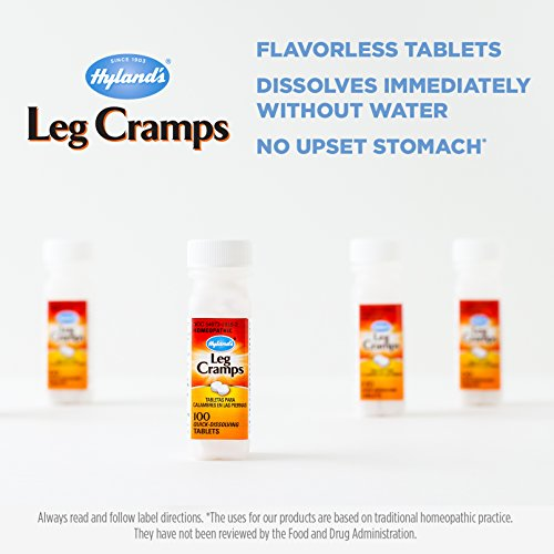 Hyland's Leg Cramp Tablets, Natural Relief of Calf Cramps, Foot Cramps and Leg Cramps, 100 Count