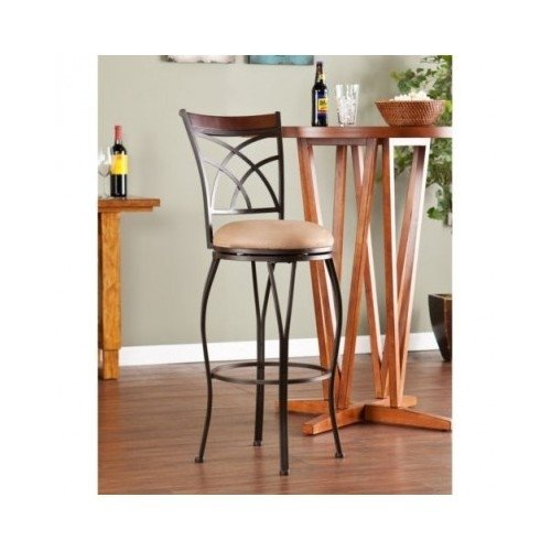 Swivel Bar Stool That Can Blend with Any Contemporary or Modern Dining Room Design Décor. Guaranteed Style. Enjoy This Wonderfully Styled Kitchen Accessory and Make Your Guests Feel Comfortable. This Contemporary Modern Swivel Stool Great Patios (Love Pation)