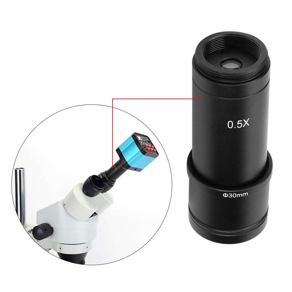 30 mm y 30,5 mm Puertos para c/ámara CCD y ocular digital 23,2 mm Adaptador de microscopio 0,5 /× ~montado en C Juego de adaptadores de lentes