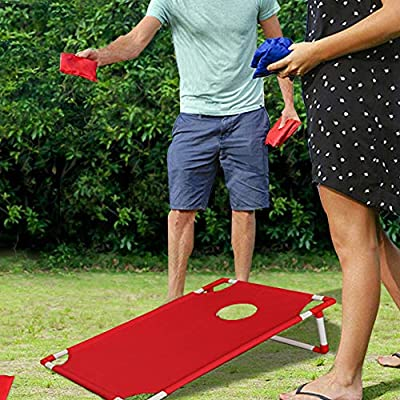 All Weather Bean Bag Toss Cornhole Game Set 8 Bean Bags W/ Carrying Bag - Bossette Boutique: Toys & Games