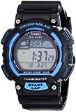 Casio Men's STLS100H-2AV Solar Powered Runner's Watch, Black with Blue Accents