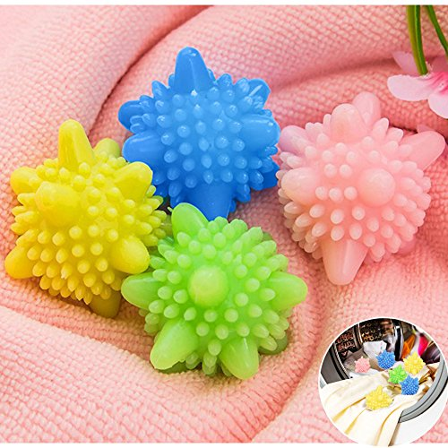 HaloVa Laundry Balls, Solid Colorful Washing Ball, Eco-friendly and Reusable, Decontamination helper, Anti Clothes winding, Set of 25