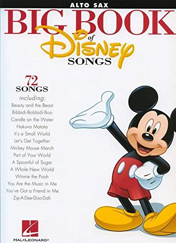 Sax Saxophone Sheet Music Book (The Big Book Of Disney Songs - Alto Sax (Book Only))