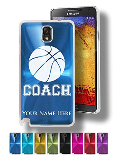 Laser Engraved Basketball - Personalized Case/Cover for Galaxy Note 3 - BASKETBALL COACH - Laser Engraved for Free