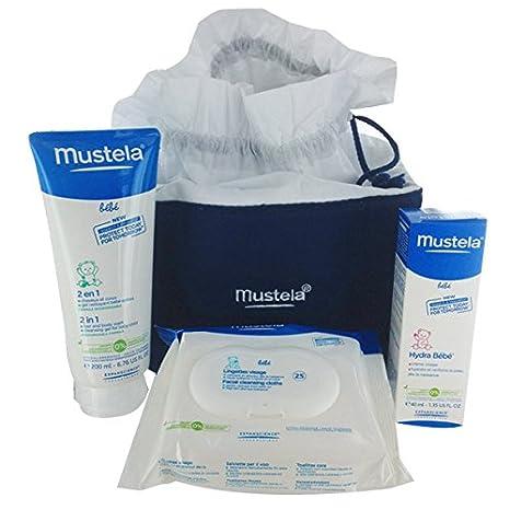 Fiesta de la vanidad del bebé cuidado 40 ml + 200 ml + 25 toallitas Mustela