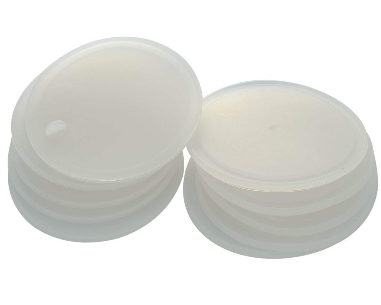 Leak Proof Platinum Silicone Sealing Lid Inserts/Liners for Mason Jars (10 Pack, Wide Mouth)