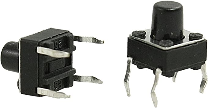 Uxcell Momentary Tact//Tactile//Push Button Switches 6 x 6 x 4.3mm
