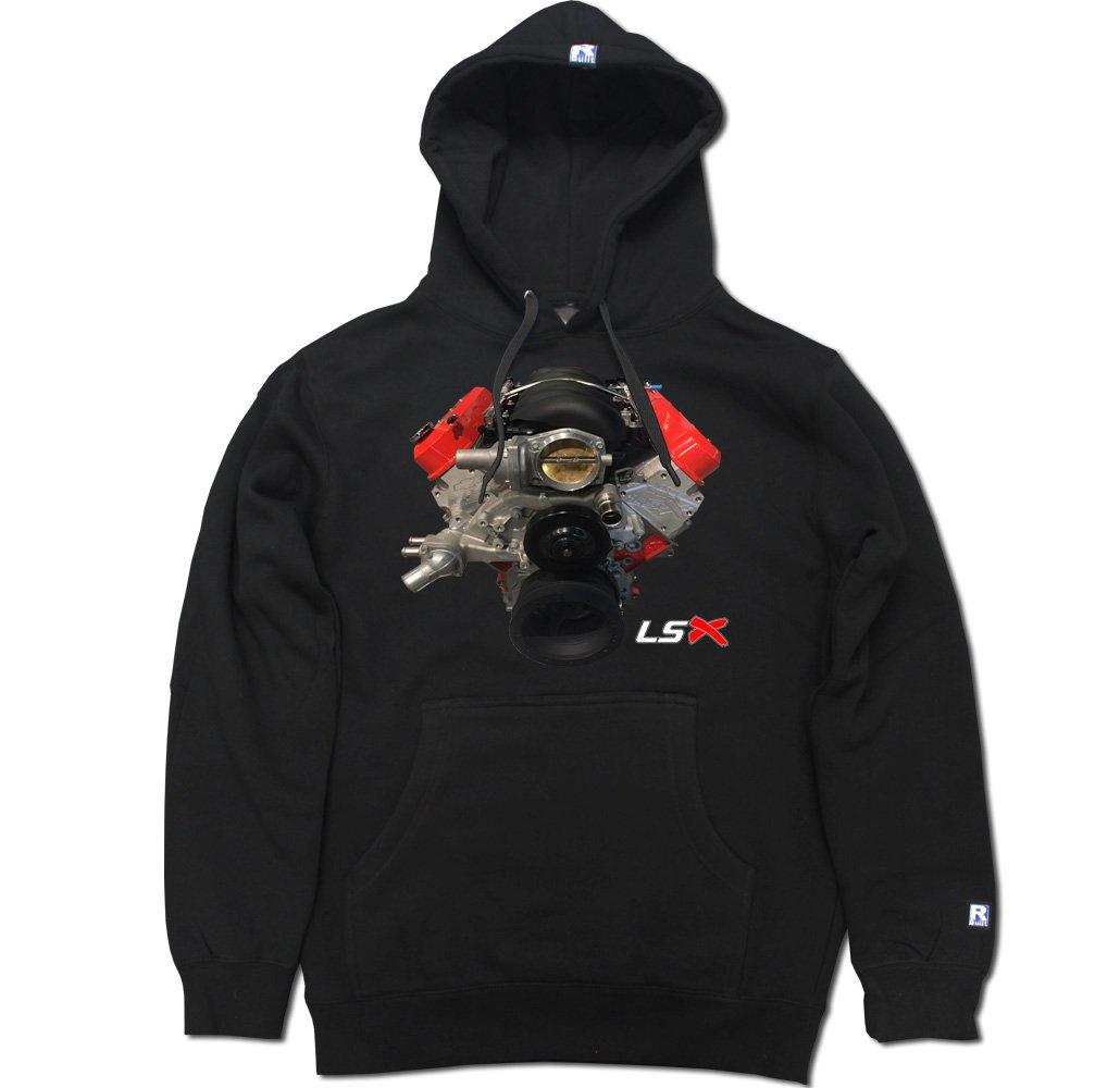R Built Men's LSX Block Pullover Hooded Sweater LSXBLOCK-HD-BLK-parent