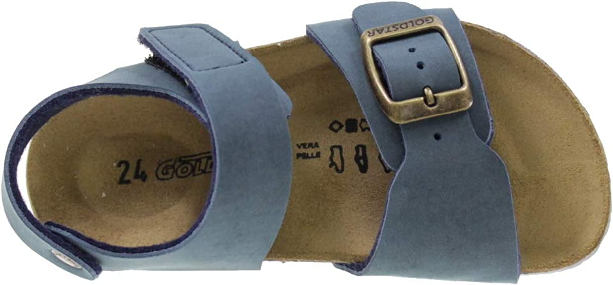 GoldStar Sandali A Strappo Modello BIRK STARTEK Bambino 8804B Blu