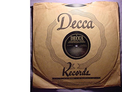 Gary Crosby & Friend With Matty Matlock's All Stars Very Nice Original 10 Inch 78 rpm & Decca Stock Paper Sleeve - Play A Simple Melody / Sam's Song - Decca Records (Stock Vinyl)